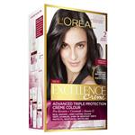 L'Oreal Paris Excellence Permanent Hair Colour - 2 Black Brown (100% Grey Coverage)