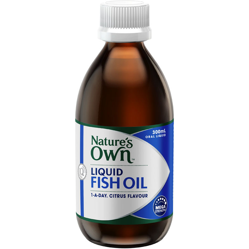Buy nature 39 s own fish oil liquid 300ml online at chemist for How does fish oil help