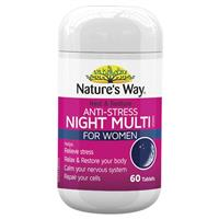Nature's Way Rest and Restore Anti-Stress Night Multivitamin for Women 60 Tablets