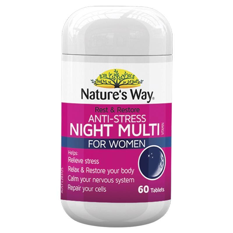 nature way stress restore multivitamin tablets anti rest night medication