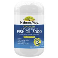 Nature's Way Advanced Omega Triple Strength Fish Oil 60 Capsules
