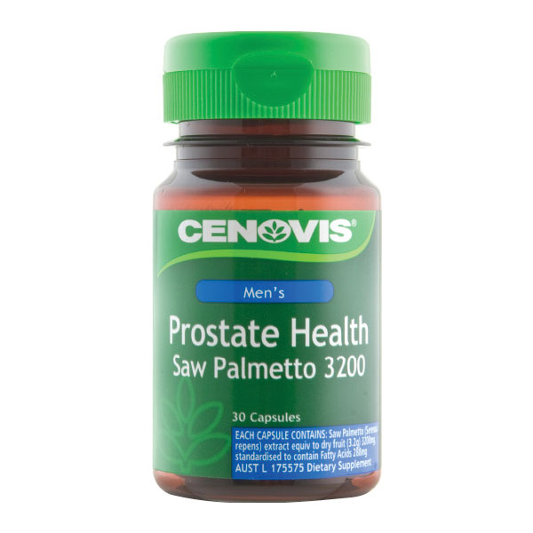 Cenovis prostate health saw palmetto 3200mg 30 capsules for Fish oil and prostate cancer