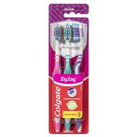 Colgate Toothbrush Zig Zag Adult Medium 3 Pack