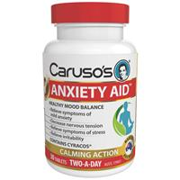Carusos Natural Health Anxiety Aid 30 Tablets