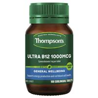 Thompson's Ultra B12 1000mcg 100 Tablets