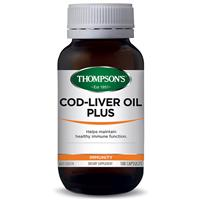 Thompson's Cod Liver Oil Plus 100 Capsules