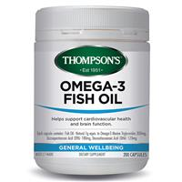 Thompson's Omega 3 Fish Oil 200 Capsules