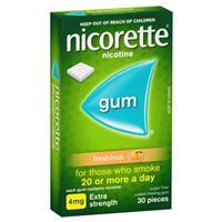 Nicorette Gum 4mg Fresh Fruit Pieces 30