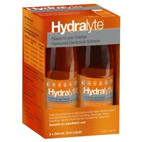 Hydralyte Electrolyte Orange 4 Pack (4x250ml) Solution