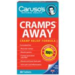 Carusos Natural Health Cramps Away 30 Tablets