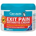 Carusos Natural Health Exit Pain Arthritis Cream 60g