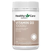 Healthy Care Vitamin D3 1000IU 250 softgel Capsules