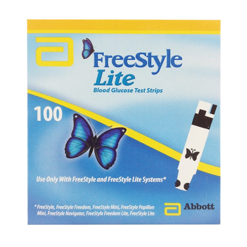 Image of Abbott Freestyle Lite 100 Blood Glucose Strips