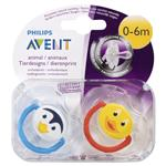 Avent Soother Animal 0-6months BPA Free 2 Pack