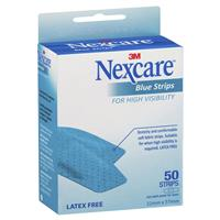 Nexcare Blue Strips 22mm x 57mm 50 Pack