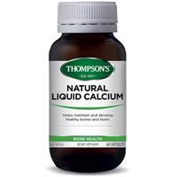 Thompson's Natural Liquid Calcium 60 Capsules