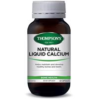 Thompson's Natural Liquid Calcium 60 Capsules