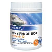 Wagner Natural Fish Oil 1500mg plus Vitamin D 180 Capsules
