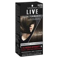 Schwarzkopf Live Salon Permanent 3.0 Dark Brown
