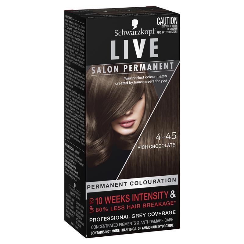 Buy schwarzkopf live salon permanent rich chocolate for Salon schwarzkopf