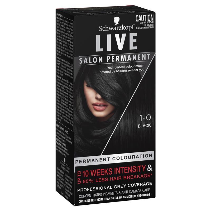 Schwarzkopf live salon permanent 1 0 black epharmacy for Salon schwarzkopf