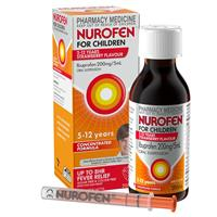 Nurofen for Children 5-12 Years Strawberry 200mL