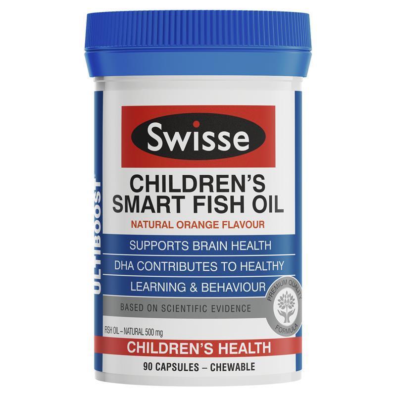 Swisse ultiboost children 39 s smart fish oil 90 capsules for Chewable fish oil