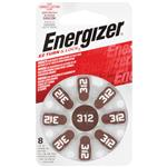Energizer EZ312 Turn & Lock Hearing Aid Batteries 8 Pack