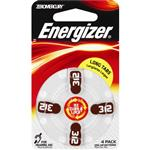 Energizer EZ312 Turn & Lock Hearing Aid Batteries 4 Pack