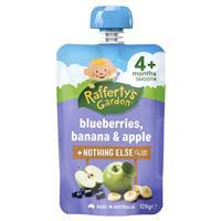 Raffertys Garden 4 Months Blueberry Banana & Apple 120g