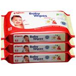 Pigeon Baby Wipes Unscented 3x82 Pack