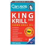 Carusos Natural Health King Krill 500mg 120 Capsules