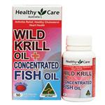 Healthy Care Wild Krill & Concentrated Fish Oil 50 Capsules