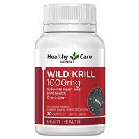 Healthy Care Wild Krill 1000mg 30 Capsules