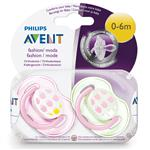 Avent Soother Fashion 0-6 Months BPA Free 2 Pack