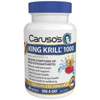 Carusos Natural Health King Krill 1000MG 60 Capsules
