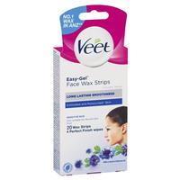 Veet Face Wax Strips Sensitive 20
