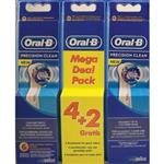 Oral B Precision Clean 4 + 2 Pack