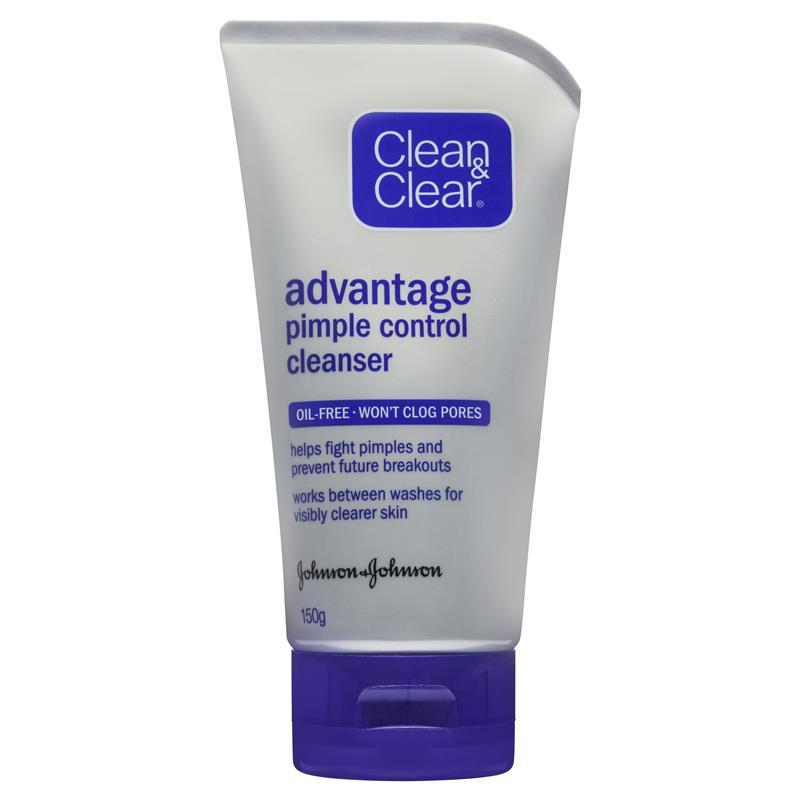 Clean clear advantage pimple control cleanser 150g for Does fish oil cause acne
