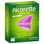 Nicorette Quit Smoking Inhalator 1 Mouthpiece and Cartridges 15mg 20 Pack