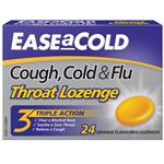 Ease A Cold Cough Cold & Flu Lozenge 24