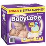 BabyLove Jumbo Nappies Infant 96
