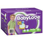 BabyLove Jumbo Nappies Junior 66