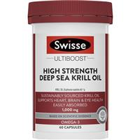 Swisse Ultiboost High Strength Deep Sea Krill Oil 1000mg 60 Capsules Exclusive Size