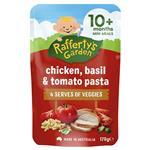 Raffertys Garden 10+ Months Chicken Basil & Tomato Pasta 170g