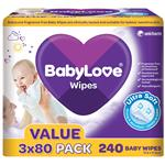 BabyLove Wipes with Aloe Vera Bulk 240 Pack