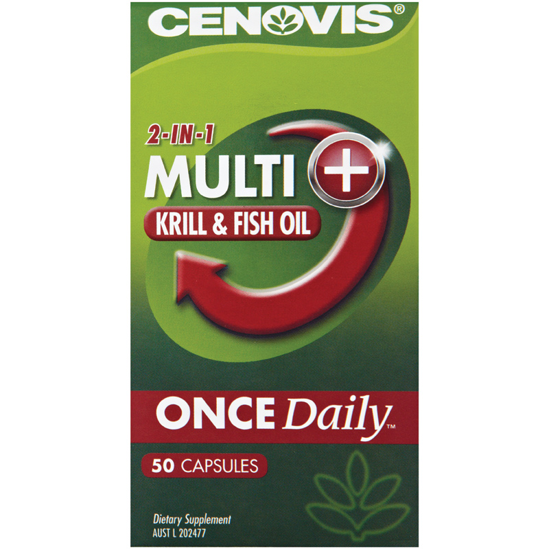 Cenovis once daily multivitamin krill fish oil 50 for Daily fish oil