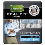 Depend Real Fit Underwear Male Medium 8