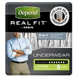 Depend Real Fit Underwear Male Large 8