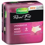 Depend Real Fit Underwear Female Large 9